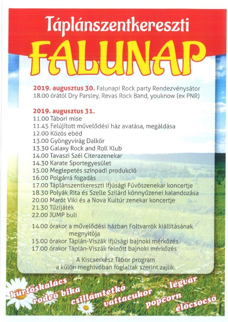 Táplánszentkereszti Falunap 2019.