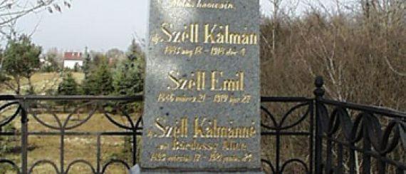 Széll Kálmán, XIX.sz.végi miniszterelnök sírja